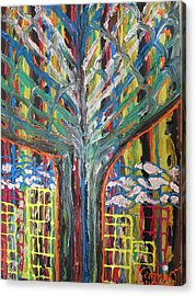 Freetown Cotton Tree - Abstract Impression Acrylic Print by Mudiama Kammoh