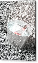 Freezing Cold Pale Ale Beer At Winter Festival Acrylic Print by Jorgo Photography - Wall Art Gallery