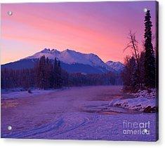 Freezing Under The Glow Acrylic Print