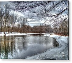Acrylic Print featuring the photograph Freezing Up by Betsy Zimmerli