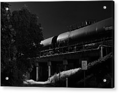 Freight Over Bike Path Acrylic Print