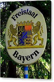 Freistaat Bayern Acrylic Print by Juergen Weiss