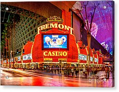 Fremont Casino Acrylic Print by Az Jackson