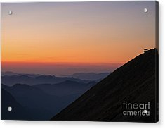 Fremont Lookout Sunset Layers Vision Acrylic Print by Mike Reid