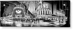 Fremont Street Experience Bw Acrylic Print