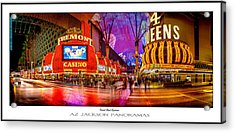 Fremont Street Experience Poster Print Acrylic Print
