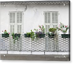 French Balcony With Shutters Acrylic Print by Elena Elisseeva