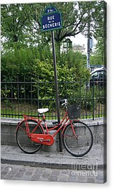 French Bike And Street Acrylic Print by Dennis Curry