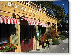 French Bistro Acrylic Print by George Oze