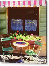 French Bistro In Napa Valley Acrylic Print by George Oze