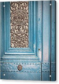 French Blue - Paris Door Acrylic Print