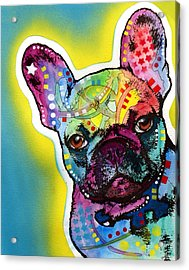 Acrylic Print featuring the painting French Bulldog by Dean Russo