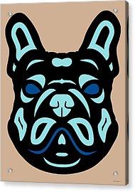 French Bulldog Francis - Dog Design - Hazelnut, Island Paradise, Lapis Blue Acrylic Print