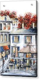 French Cafe Acrylic Print