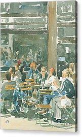 French Cafe Scene  Acrylic Print by Ian Osborne