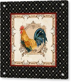 French Country Roosters Quartet 4 Acrylic Print
