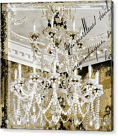 French Draped Pearls Chandelier Acrylic Print by Mindy Sommers