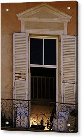 Acrylic Print featuring the photograph French Evening by Rasma Bertz