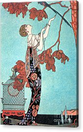 French Fashion, George Barbier, 1914 Acrylic Print by Science Source