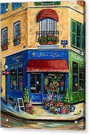 French Flower Shop Acrylic Print