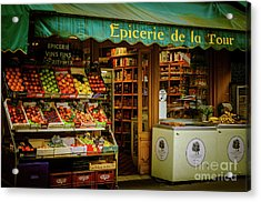French Groceries Acrylic Print
