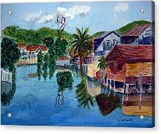 French Harbor Isla De Roatan Acrylic Print