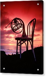 French Horn On Chair Acrylic Print by Garry Gay