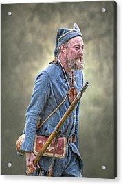 French Marine Portrait Acrylic Print by Randy Steele