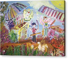 Acrylic Print featuring the painting French Market Fairies by Judith Desrosiers