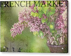 French Market Series M Acrylic Print by Rebecca Cozart