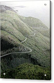 French Mountain At 400 Metres Acrylic Print by Roger Beaudry