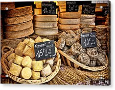 French Mountain Cheese Acrylic Print by Olivier Le Queinec
