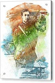 French Pilot Acrylic Print