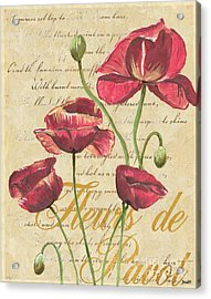 French Pink Poppies Acrylic Print