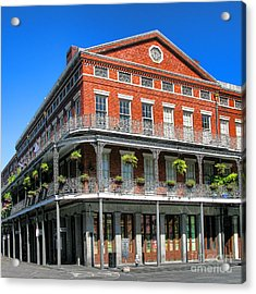 French Quarter Building Acrylic Print by Olivier Le Queinec
