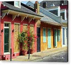 French Quarter Cottages Acrylic Print