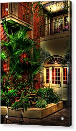 French Quarter Courtyard Acrylic Print