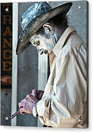 French Quarter Cowboy Mime Acrylic Print by Kathleen K Parker
