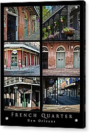 French Quarter - New Orleans - Collage Acrylic Print by Greg Jackson