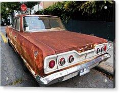 French Quarter Rusty Chevy Acrylic Print