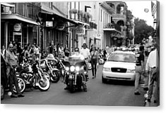 Acrylic Print featuring the photograph French Quarter Street Scene by Kate Purdy