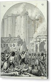French Revolution Storming Of The Acrylic Print by Vintage Design Pics