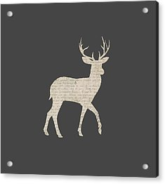 French Script Stag Acrylic Print