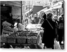 French Street Market Acrylic Print by Sebastian Musial