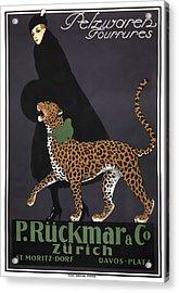 French Swiss Vintage Ad C. 1920 Acrylic Print by Daniel Hagerman