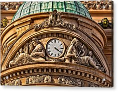 French Time Acrylic Print by Christopher Holmes