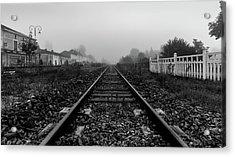 French Train Tracks Acrylic Print