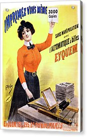 French Vintage Advertising Poster Restored Acrylic Print by Carsten Reisinger
