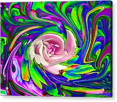 French Wild Rose Acrylic Print by Rose Guay
