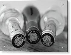 French Wine Bottles Acrylic Print by Georgia Fowler